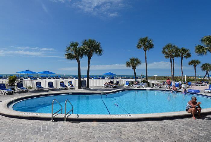 Tradewinds Resort adult pool by the beach