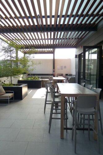 Outdoor deck at Staybridge Suites Novena Guadalajara