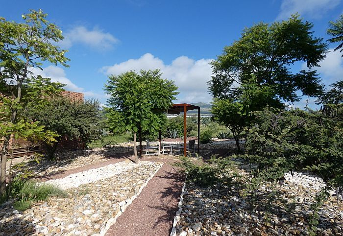 grounds and landscaping in Mineral de Pozos hotel